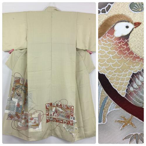 S, beige kimono for women