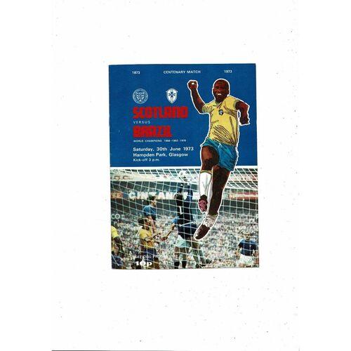 1973 Scotland v Brazil Football Programme