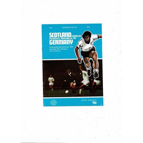 1973 Scotland v Germany Football Programme