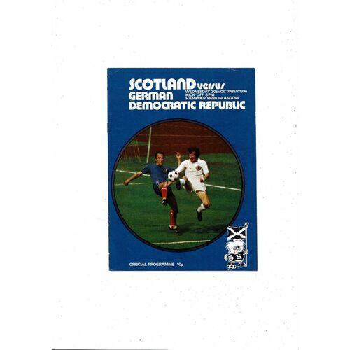 1974 Scotland v GDR Football Programme