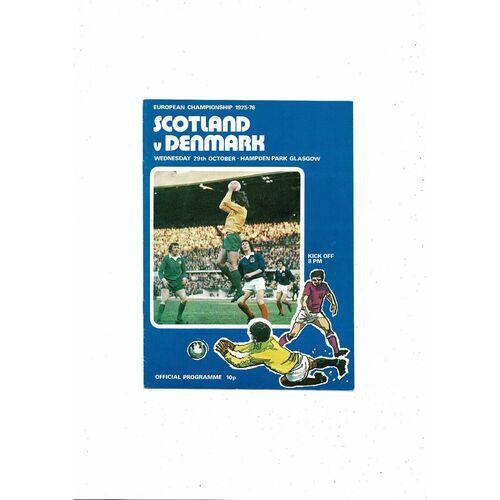1975 Scotland v Denmark Football Programme