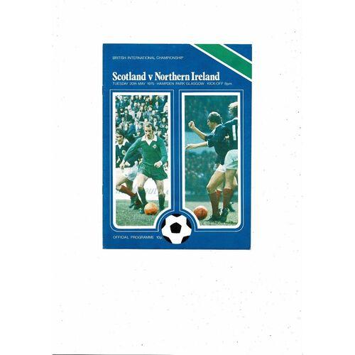 1975 Scotland v Northern Ireland Football Programme