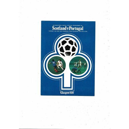 1975 Scotland v Portugal Football Programme
