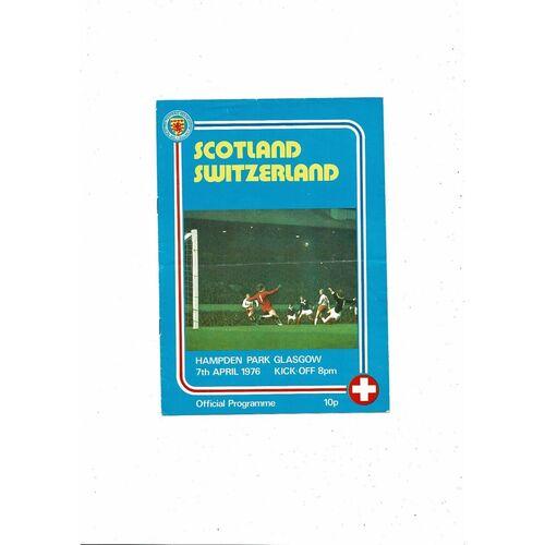1976 Scotland v Switzerland Football Programme