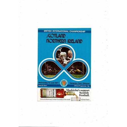 1977 Scotland v Northern Ireland Football Programme