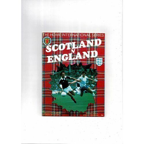 1978 Scotland v England Football Programme
