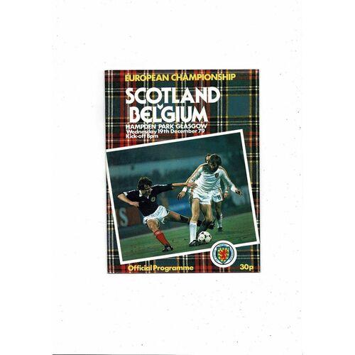 1979 Scotland v Belgium Football Programme