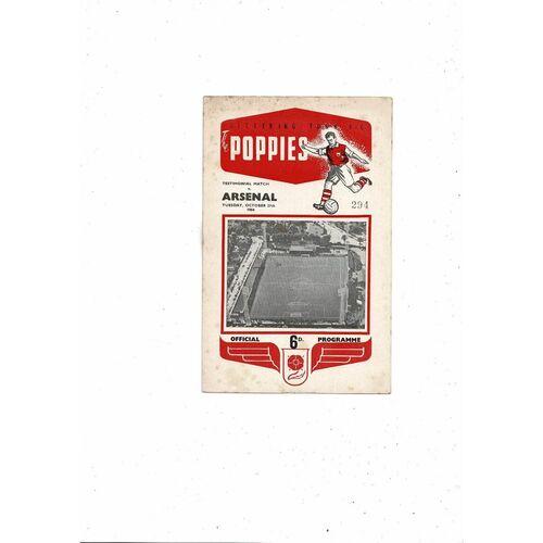 Kettering v Arsenal Frank Summerly's Testimonial Football Programme 1964/65
