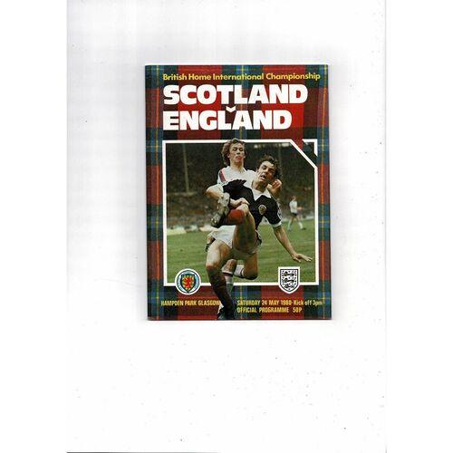 1980 Scotland v England Football Programme