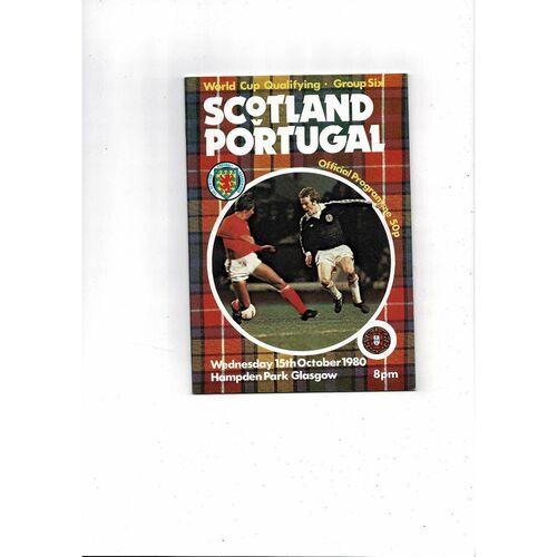 1980 Scotland v Portugal Football Programme Oct. 15th