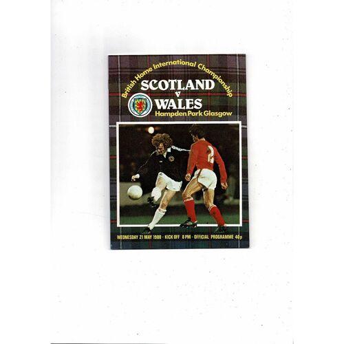 1980 Scotland v Wales Football Programme
