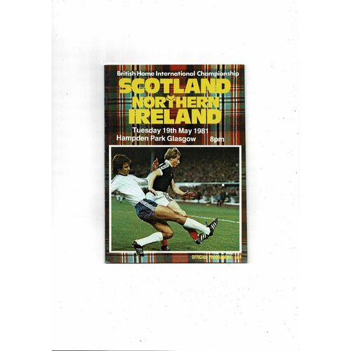 1981 Scotland v Northern Ireland Home International Football Programme