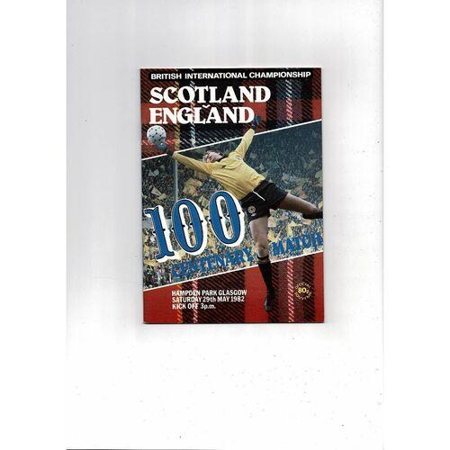 1982 Scotland v England Football Programme