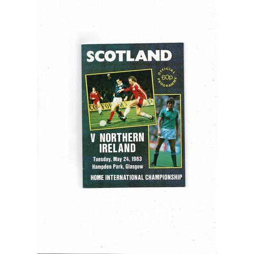 1983 Scotland v Northern Ireland Football Programme