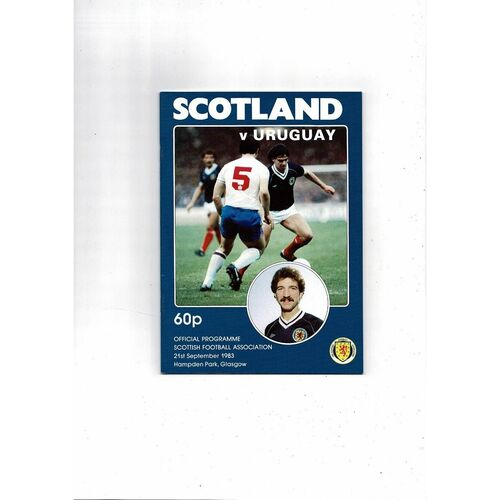 1983 Scotland v Uruguay Football Programme