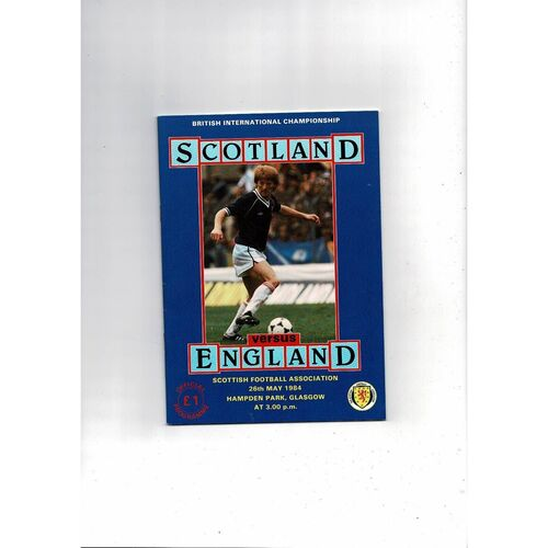 1984 Scotland v England Football Programme