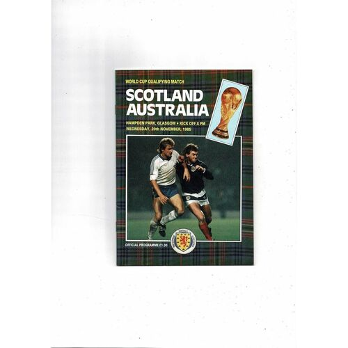 1985 Scotland v Australia Football Programme