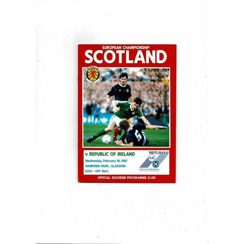 1987 Scotland v Republic of Ireland Football Programme