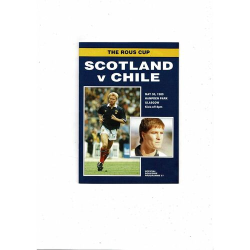 1989 Scotland v Chile Football Programme