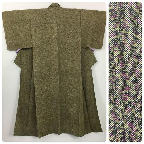 M, green & purple kimono for women