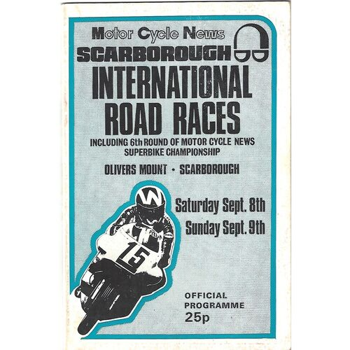 1973 Oliver's Mount, Scarborough (08-09/09/1973) Motor Cycle Racing Programme