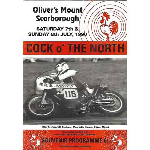 1990 Oliver's Mount, Scarborough Cock O'The North Road Race Motor Cycle Race Meeting (07-08/1990) Motor Cycle Racing Programme