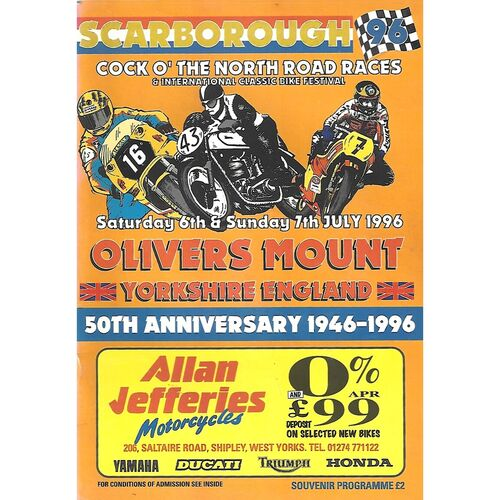 1996 Oliver's Mount, Scarborough Cock O'The North Road Race Motor Cycle Race Meeting (06-07/09/1996) Motor Cycle Racing Programme