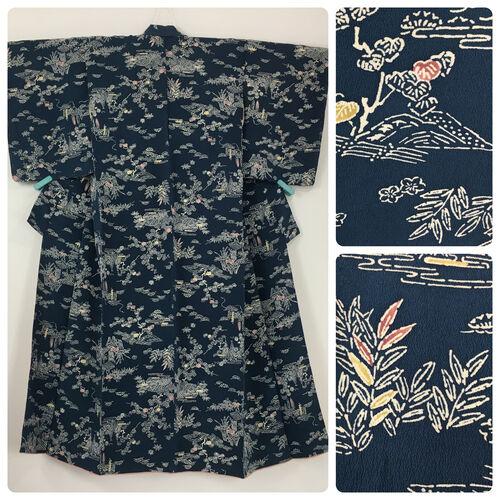 S, blue kimono for women