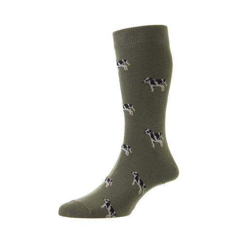 HJ Hall Cow Cotton Rich Socks