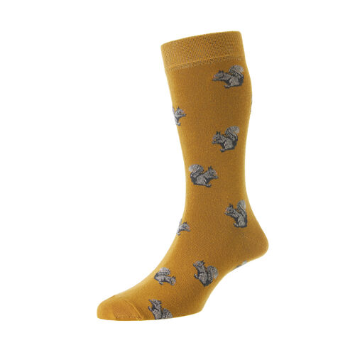 HJ Hall Squirrel Cotton Rich Socks