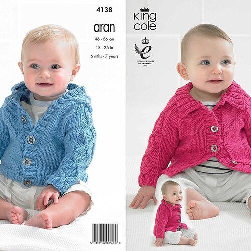 4138 Baby Cotton Aran Pattern