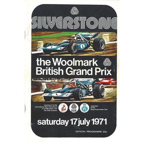 1971 British Grand Prix Motor Racing Programme