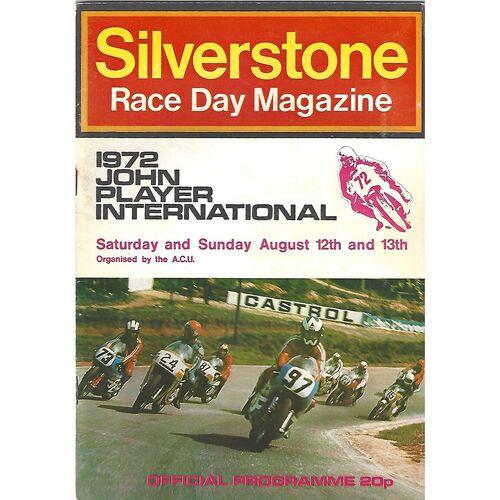 1972 Silverstone John Player International Race Meeting (12-13/08/1972) Motor Cycle Racing Programme