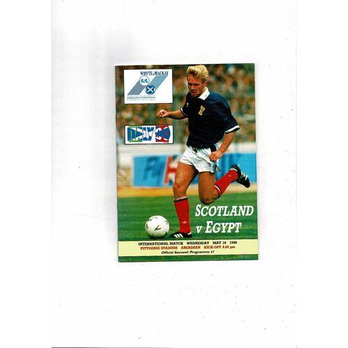 1990 Scotland v Egypt Football Programme
