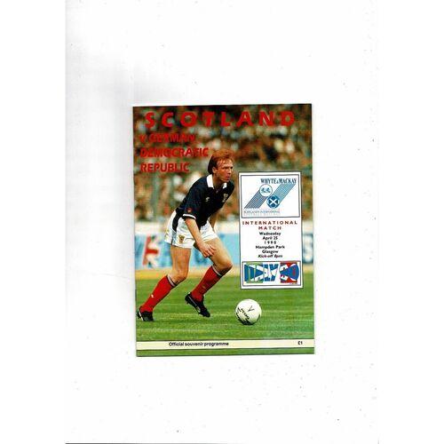 1990 Scotland v GDR Football Programme