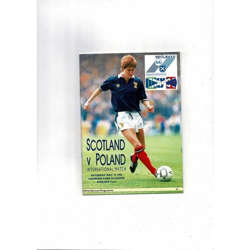 1990 Scotland v Poland Football Programme