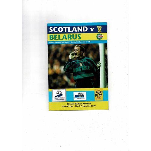 1997 Scotland v Belarus Football Programme