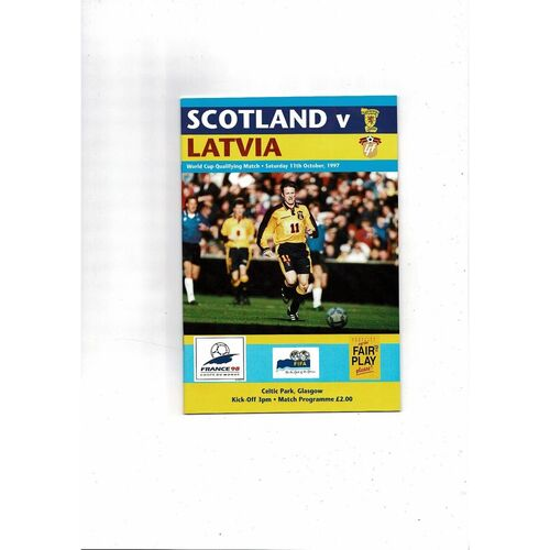 1997 Scotland v Latvia Football Programme