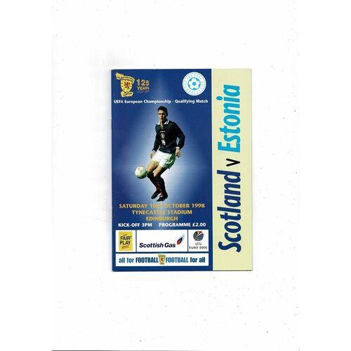 1998 Scotland v Estonia Football Programme
