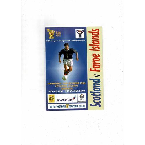 1998 Scotland v Finland Football Programme
