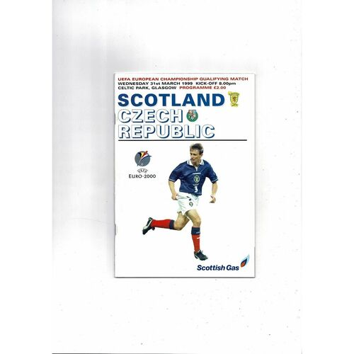 1999 Scotland v Czech Republic Football Programme
