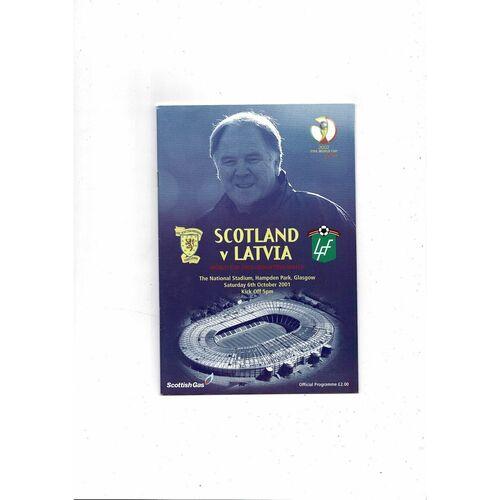 2001 Scotland v Latvia Football Programme