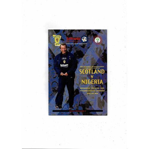 2002 Scotland v Nigeria Football Programme