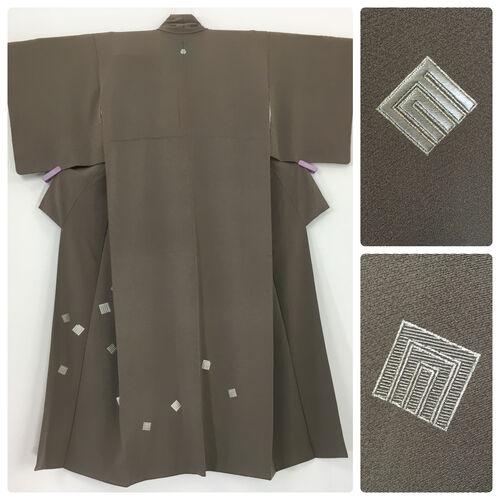S, ash grey kimono for women