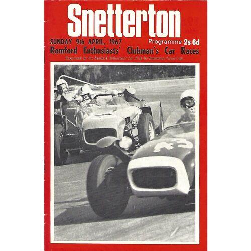 1967 Snetterton Romford Enthusiast's Clubman's Car Races Meeting (09/04/1967) Motor Racing Programme