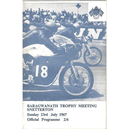 1967 Snetterton Baragwanth Trophy Race Meeting (23/07/1967) Motor Cycle Racing Programme