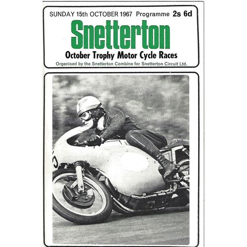 1967 Snetterton October Trophy National Motor Cycle Races Meeting (15/10/1967) Motor Cycle Racing Programme