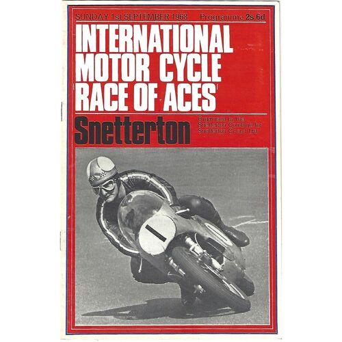 1968 Snetterton International Motor Cycle Race of Aces Race Meeting (01/09/1968) Motor Cycle Racing Programme