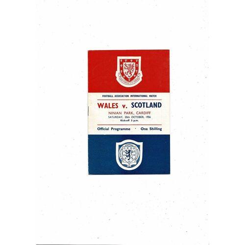 1956 Wales v Scotland Football Programme