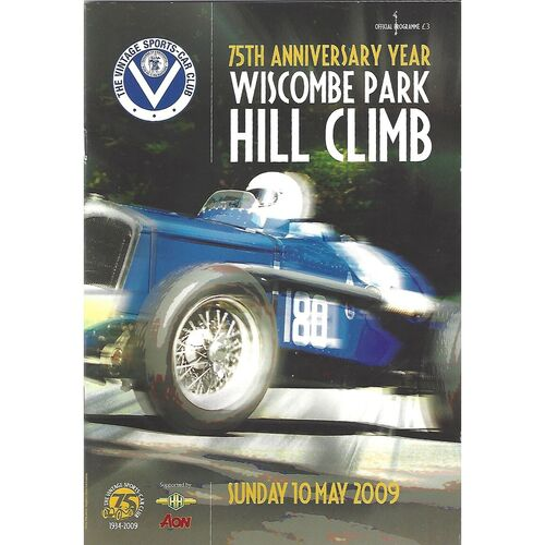 2009 Wiscombe Park 75th Anniversary Hill Climb Meeting (10/05/2009) Motor Racing Programme